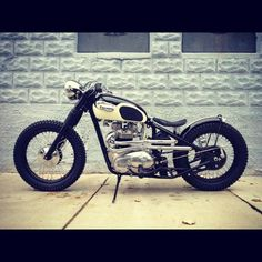 Triumph - I want this more than anything. Shame I can't ride XD. Triumph Bobber, Bobber Bikes, Bobber Motorcycle, Bobber Chopper, Cool Motorcycles, Triumph Motorcycles, Vintage Motorcycles, Harley Scrambler, Triumph 650