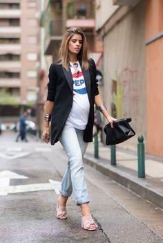 Ms Treinta - Blog de moda y tendencias by Alba. - Fashion Blogger -: 36 WEEKS: PEPSI Stylish Maternity, Maternity Fashion, Jean Outfits, Comfy, Jeans Fashion, Pregnancy Fashion, Maternity Styles, Pregnancy Style