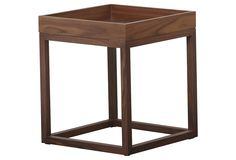 Marie Square End Table, Oak | Stylish Upholstery | One Kings Lane