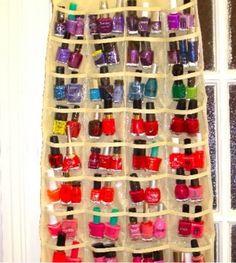 Good idea for nail polish storage