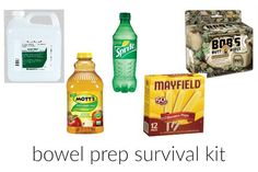 After multiple colonoscopies, I thought I would share my wisdom that I have acquired over the years with you wonderful readers and share my bowel prep survival kit. Survival Supplies, Survival Kits, Natural Health, Over The Years, Natural Remedies, Prepping, The Cure, Health And Beauty