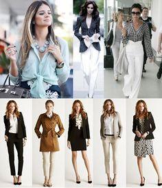 Moda para Executivas - Especial Looks de Trabalho em um manual das Mulheres Poderosas