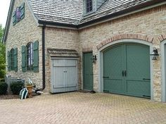 french country exterior window shutters - Google Search