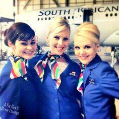 South African Airways cabin crew.