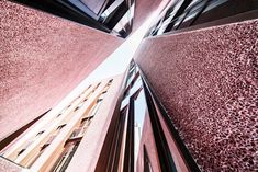 Inuce completes pink pebbledash church hall in Fuzhou China Architecture, Architecture Design, Architectural Materials, Concrete Finishes, Dezeen, Cristiano, Gallery, Wood, Pink