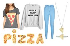 PIZZA IS MY FAV by aamna16 on Polyvore featuring polyvore, fashion, style, Lipsy, Rock 'N Rose and clothing