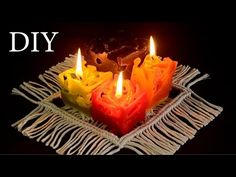 DIY: Colorful Ice Candles | Home Decor Ideas (Recycling Project) - YouTube