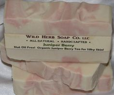 ALL NATURAL JUNIPER BERRY Cold Processed Handmade Soap Bar by WILD HERB SOAP CO. $4.25
