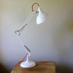 Matt White Angled Table Lamp