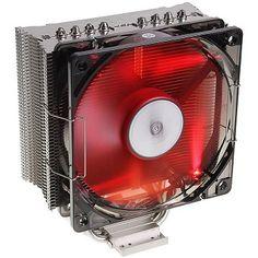 Prolimatech Panther CPU Cooler - Dimensions (with fan): 130 x 158 x 73 mm - Heatpipes: 4x Ø 6 mm - Fan: 120 mm (Red LED) - Fan Noise: (29,1 dB(A) - Fan RPM: 1.600 U/min +-10%, max. £33