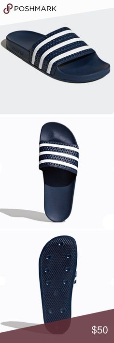 74f6944f57c3d7 ADIDAS ADILETTE ORIGINALS SLIDES SLIPPERS SANDALS Adidas Adilette Original  Slide ( Sandal ) Navy Blue