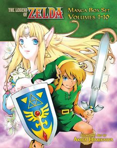 BackAbout Zelda, Legend of Graphic Novel Box Set This Legend of Zelda Box Set contains all 10 volumes and a collectible poster. Features story and art by Akira Himekawa. In the mystical land of Hyrule, three spiritual stones hold the key to the Triforce, and whoever holds them will control the world. A boy named Link sets out on a quest to deliver the Emerald, the spiritual stone of the forest, to Zelda, Princess of the land of Hyrule. The journey will be long and perilous, and Link will…