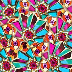 Gaudi mosaic pattern