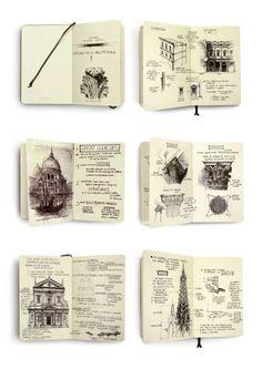 Classic Architecture Studies by Chema Pastrana, via Behance: