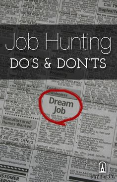 Click Here To Learn The Do's And Don'ts Of Job Hunting.     #jobsearch #career