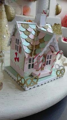 Country Homes Decor – Best Puzzles, Games, Ideas & Christmas Village Houses, Putz Houses, Christmas Villages, Gingerbread Village, Christmas Gingerbread House, Christmas Home, Cardboard Box Houses, Paper Houses, Tim Holtz