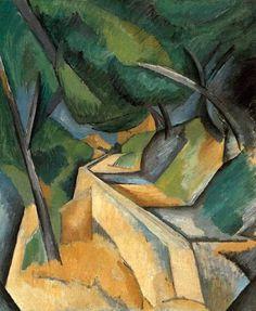 Road near L'Estaque. 1908.  Georges Braque