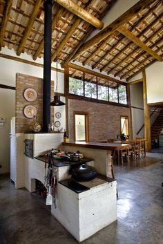 São Lourenço da Serra/SP: Casas Rústico por Bianka Mugnatto Design de Interiores