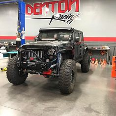 From: denton_racing - This Jeep is off to @gkfinishline for some badass wiring 👍👌 #dentonracing #dmmotorsports #mastmotorsports #supercharged #superchargersonline #currieenterprises #evosuspension #kingshocks #rondavisradiators #boosted #visionx -  More Info:https://www.instagram.com/p/BRW2_yGAYxZ/