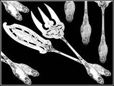 Art Nouveau, Art Deco, Vintage Cutlery, Antique Silver, Fox, Victorian, Antiques, Antiquities, Antique