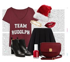 """Team Rudolph"" by jessicawednesday ❤ liked on Polyvore featuring Oris, Polo Ralph Lauren, Stephane Kélian, The Code, Tiffany & Co., Essie and TheBalm"