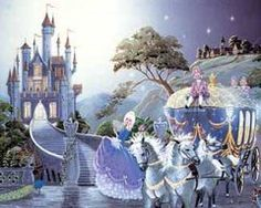 Magical Fairy Tale Cinderella going to the ball FOIL ART PRINT