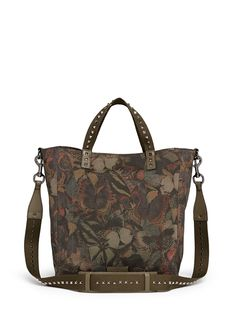 VALENTINO - Camubutterfly' canvas tote   Green Tote Bags   Menswear   Lane Crawford - Shop Designer Brands Online