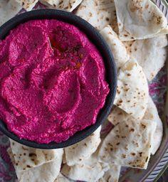Spicy Roasted Beet Hummus - Chez Us