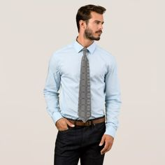 Grey Tie - inspired by nature -nature diy customize sprecial design