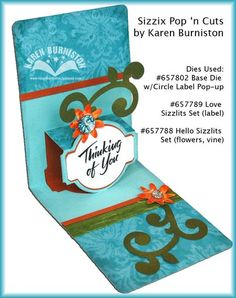 Can't wait to get Karen's newest Pop'N Cuts Sizzix dies. Looks like fun and looks super easy