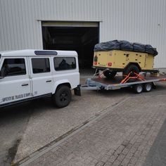 On its way to a new owner Adventure Trailers, Land Rover Defender, Offroad, 4x4, Tent, Europe, Camping, Vehicles, Campsite