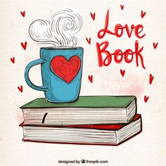 Sfondo coppa con i libri disegnati a man. I Love Books, Good Books, My Books, Bullet Journal Books, Book Journal, Book Drawing, Coffee And Books, Book Photography, Book Nerd