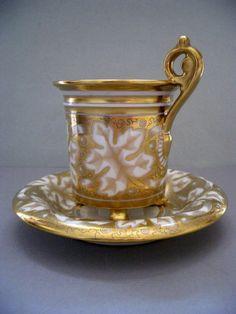 Grande tasse Litron et sous tasse de Style Empire