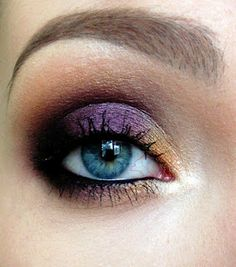 Eye of the Storm - purple and gold