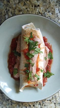 21 Day Fix - Chicken Chimichanga Lunch