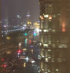 Stephen Fry: A view of the Bund at night...Shanghai is all very Blade Runner when it's rainy. Dec 5, 2015