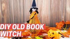 Diy Halloween Decorations, Paper Decorations, Fall Halloween, Halloween Crafts, Diy Old Books, Floating Books, Pumpkin Art, Folded Book Art, Witch Decor