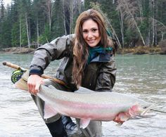 April Vokey, from Flygal, runs her own fly charters, teacher, and ties flies.