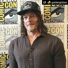 Demasiada belleza.  Norman Reedus, also known as Daryl Dixon at San Diego Comic-Con