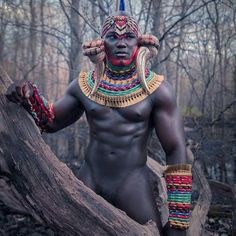 beautiful man, but I am more interested in those wicked accessories - African Fashion magazine.