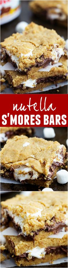 These Nutella S'mores Bars are ooey and gooey and one of the best treats EVER! So easy and no campfire required!