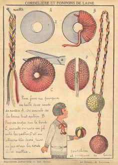 Vintage Craft pompons de laine