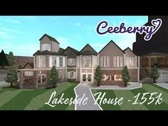 Lake side Family Home Modern Family House, Family House Plans, Home And Family, Luxury House Plans, Dream House Plans, Luxury Houses, Dream Houses, Two Story House Design, Roblox Pictures