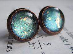 Polar - Earring studs - science jewelry - science earrings - galaxy jewelry