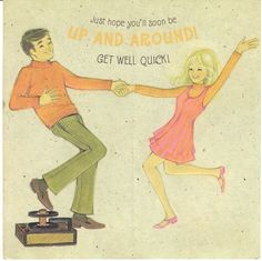 1960s get well card.
