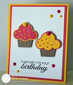 By Janet Zeppa : Dynamic Duos #64 - Strawberry Slush and Daffodil Delight