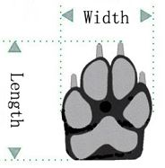 Paw Print Leather Dog Boots Shoes in Black- Apparel - Shoes/Socks Posh Puppy Boutique