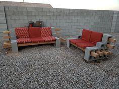 Cinder Block Furniture, Outdoor Furniture Sets, Outdoor Decor, Diy Patio, Beautiful Gardens, Yard, House, Home Decor, Gardens