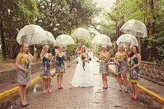 "Clear Bubble Dome Shape 46"" Rain Umbrellas, perfect for your spring wedding - saraglove.com"
