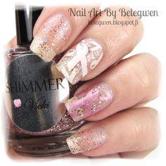 Nail Art by Belegwen: Shimmer Polish: Vicki (Breast Cancer Research Charity)